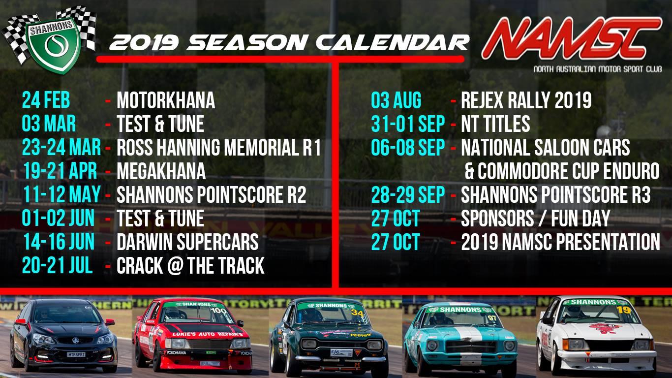 2019 NAMSC Calendar